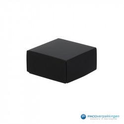 Geschenkdoos met deksel - Zwart Mat (Venetië) - Zijaanzicht dicht