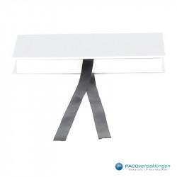 Magneetdoos Giftcard - Wit Mat (Toscana) - Inlay karton - Vooraanzicht dicht