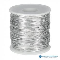 Elastisch touw - Zilver - Vooraanzicht