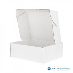 Kledingdoos - Wit Glans - Vooraanzicht open