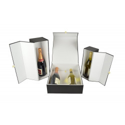 Wijndozen - Zwart Mat - 3 Flessen - Luxe - Collectie open