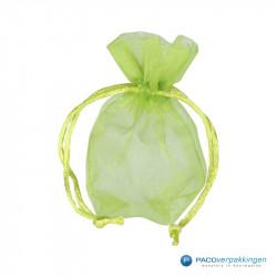 Organza zakjes - Appelgroen - Vooraanzicht