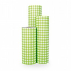 Inpakpapier - Ruiten - Groen (Nr. 1002) - Rollen