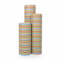 Inpakpapier - Strepen - Multikleur (Nr. 1016) - Rollen