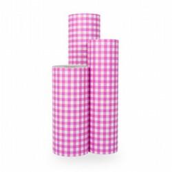 Inpakpapier - Ruiten - Roze op wit (Nr. 1020) - Rollen