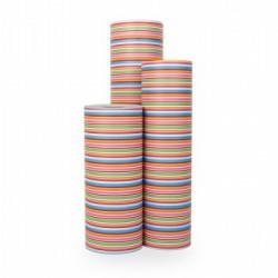 Inpakpapier - Strepen - Multikleur  (Nr. 1023) - Rollen