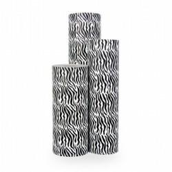 Inpakpapier - Zebra - Zwart op wit (Nr. 1025) - Rollen