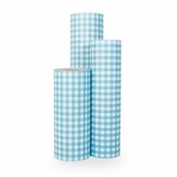Inpakpapier - Ruiten - Blauw op wit (Nr. 1026) - Rollen