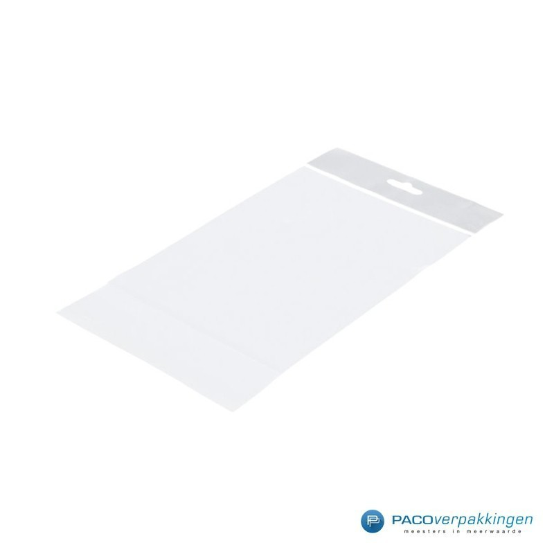 PP zakken met eurosleuf - Transparant - Zijaanzicht voor