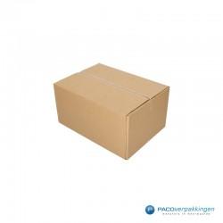 Verzenddozen - Budget - Bruin - Enkelgolf (Nr. 543563) - Zijaanzicht dicht
