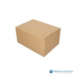 Verzenddozen - Budget - Bruin - Enkelgolf (Nr. 440101) - Zijaanzicht open