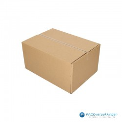 Verzenddozen - Budget - Bruin - Enkelgolf (Nr. 526557) - Zijaanzicht open