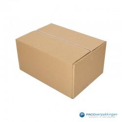 Verzenddozen - Budget - Bruin - Enkelgolf (Nr. 526558) - Zijaanzicht dicht