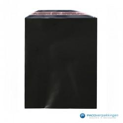 Cadeauzakjes folie - Zwart Glans - Vooraanzicht