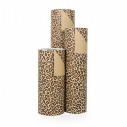 Inpakpapier - Luipaard - Bruin met zwart (Nr. 1515) - Rollen