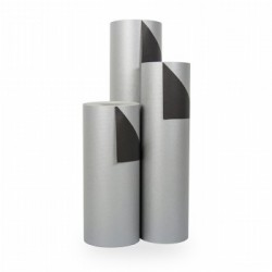 Inpakpapier - Effen - Zilver en zwart (Nr. 1740) - Rollen