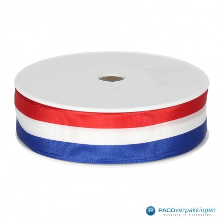 Inpaklint - Ribbel - Holland - Rood / Wit / Blauw