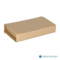 Verzenddozen - Bruin - Boek verpakking (Nr. 440313) - Zijaanzicht achter dicht