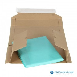 Verzenddozen - Bruin - Boek verpakking (Nr. 440313) - Vooraanzicht open