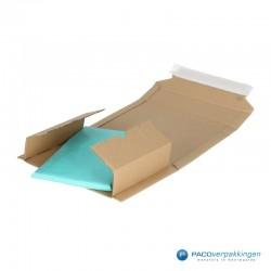 Verzenddozen - Bruin - Boek verpakking (Nr. 440313) - Zijaanzicht open