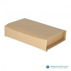 Verzenddozen - Bruin - Boek verpakking (Nr. 440315) - Zijaanzicht dicht