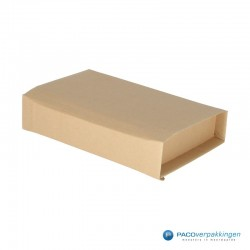 Verzenddozen - Bruin - Boek verpakking (Nr. 440314) - Zijaanzicht dicht