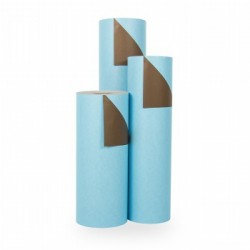 Inpakpapier - Effen - Blauw en bruin (Nr. 1752) - Rollen
