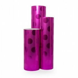 Inpakpapier - Stippen - Rood op roze (Nr. 2016) - Rollen