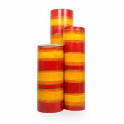 Inpakpapier - Strepen - Rood op geel (Nr. 3010) - Rollen
