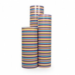 Inpakpapier - Strepen - Multikleur (Nr. 3018) - Rollen