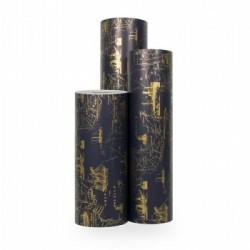 Inpakpapier - Hollands - Goud op blauw (Nr. 3034) - Rollen