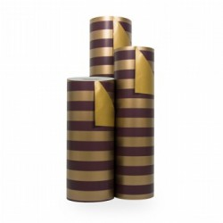 Inpakpapier - Strepen - Rood op goud (Nr. 3104) - Rollen
