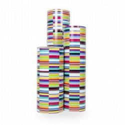 Inpakpapier - Strepen - Multikleur (Nr. 3204) - Rollen