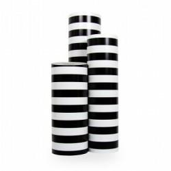 Inpakpapier - Strepen - Zwart op wit (Nr. 3226) - Rollen