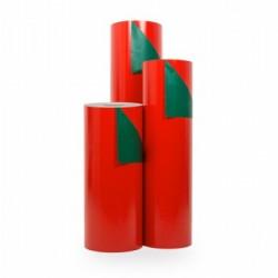Inpakpapier - Effen - Glossy - Rood en groen (Nr. 5110) - Rollen