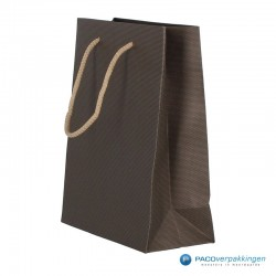 Papieren draagtassen - Paco Nature Nr. 22 - Bruin Beige - Zijaanzicht