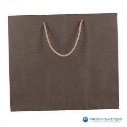 Papieren draagtassen - Paco Nature Nr. 41 - Bruin Beige - Vooraanzicht