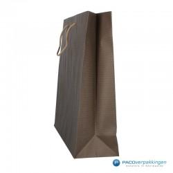 Papieren draagtassen - Paco Nature Nr. 54 - Bruin Beige - Zijaanzicht