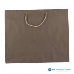 Papieren draagtassen - Paco Nature Nr. 54 - Bruin Beige - Vooraanzicht