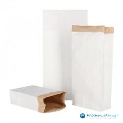 Blokbodemzakken papier - Wit/Bruin - Collectie