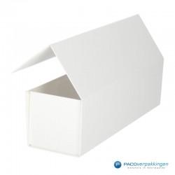 Magneetdoos - Wit Mat - Budget - Zijaanzicht open achter
