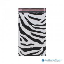 Cadeauzakjes folie - Zebra print -Achteraanzicht