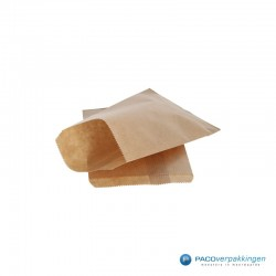 Papieren zakjes - Bruin - Zijaanzicht