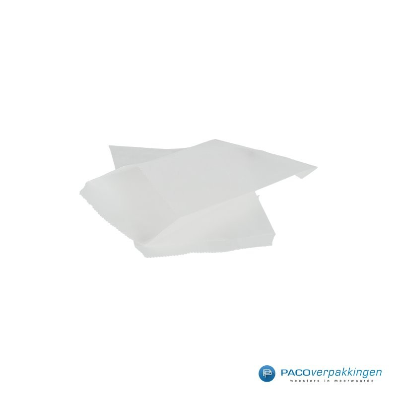 Papieren zakjes - Wit - Zijaanzicht