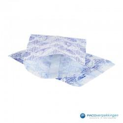 Papieren zakjes - Souvenir - Wit Blauw - Vooraanzicht