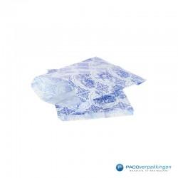 Papieren zakjes - Souvenir - Wit Blauw - Zijaanzicht