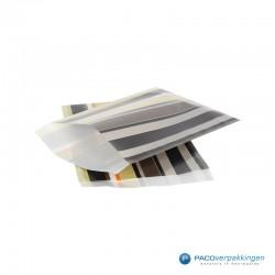 Papieren zakjes - Strepen gekleurd - Nr.910 - Zijaanzicht