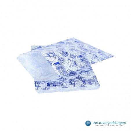 Papieren zakjes - Souvenir - Wit Blauw