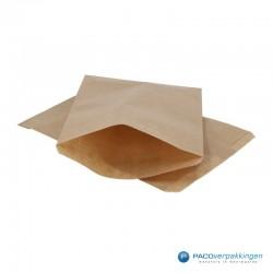 Papieren zakjes - Bruin - Vooraanzicht