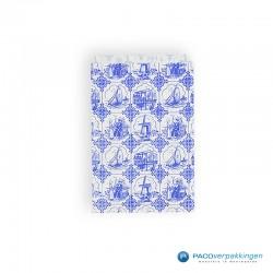 Papieren zakjes - Souvenir - Wit Blauw - Dessin
